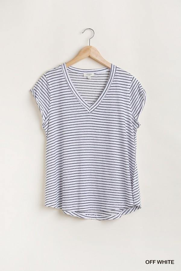 HAYDEN FLOWY V NECK TOP - Patton's