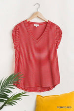 HAYDEN FLOWY V NECK TOP