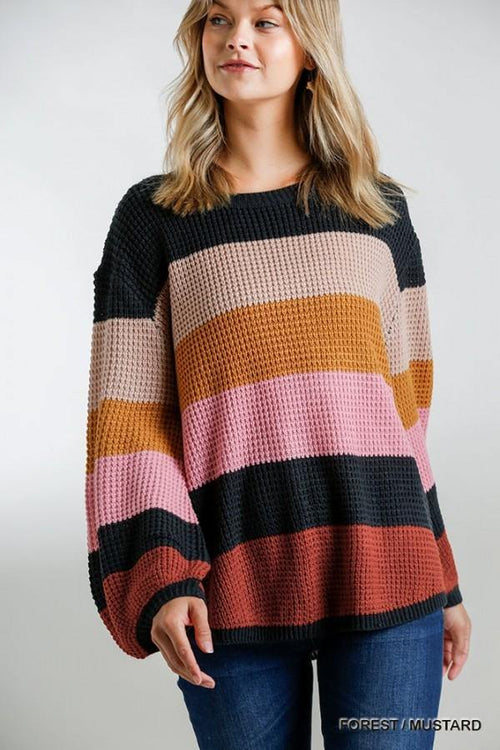 WREN STRIPED MULTICOLOR SWEATER