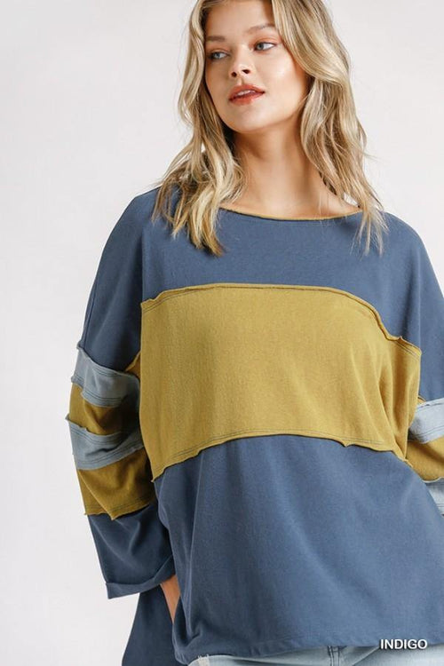 ZOLA  COLOR BLOCK TOP