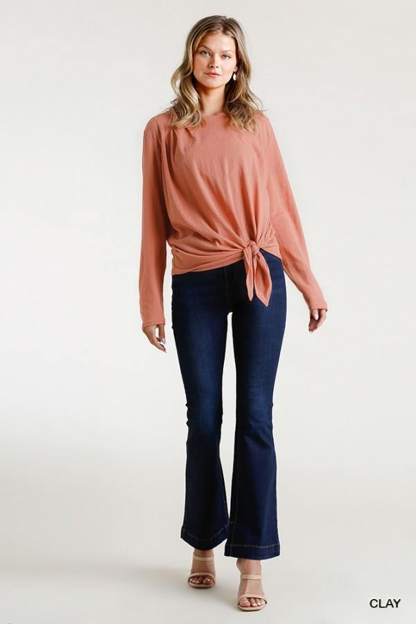 ADDISON FRONT TIE SHOULDER DETAIL TOP