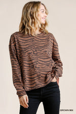 MONA ANIMAL PRINT TOP