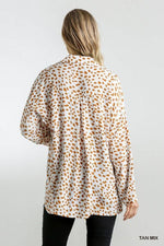 SHANA DALMATIAN TAB SLEEVE TOP - Patton's