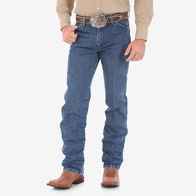 WRANGLER® COWBOY CUT® ORIGINAL FIT GOLD BUCKLE JEAN