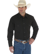 WRANGLER WESTERN SNAP SHIRT BLACK