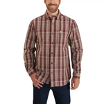 CARHARTT® RELAXED FIT COTTON LONG-SLEEVE PLAID SHIRT - Patton's