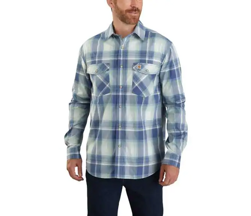 CARHARTT® RUGGED FLEX® RELAXED FIT LIGHTWEIGHT LONG-SLEEVE SNAP-FRONT PLAID SHIRT - Patton's