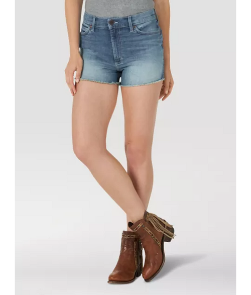 WOMEN'S WRANGLER RETRO HIGH RISE CUT OFF SHORT