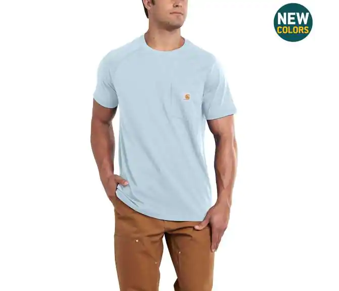 CARHARTT FORCE® COTTON DELMONT SHORT-SLEEVE T-SHIRT SEASONAL COLORS