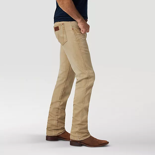 WRANGLER RETRO® PREMIUM TAN SLIM FIT STRAIGHT LEG JEAN