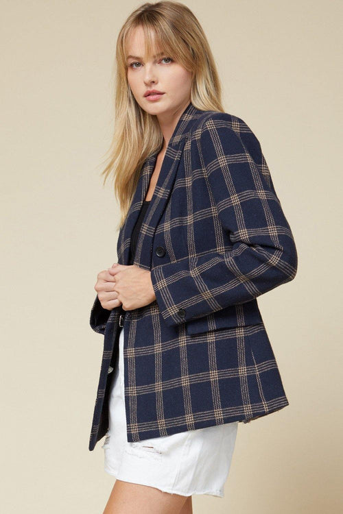 LILLIAN PLAID BLAZER