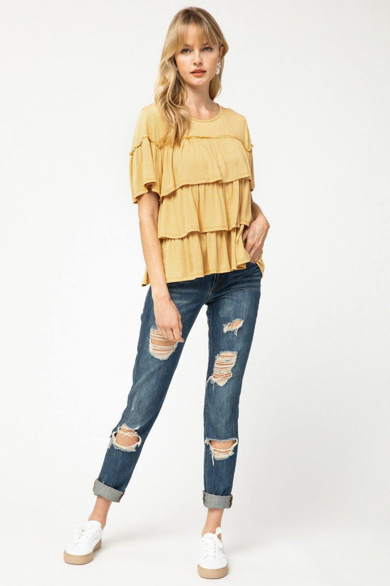GENE STRIPED TOP
