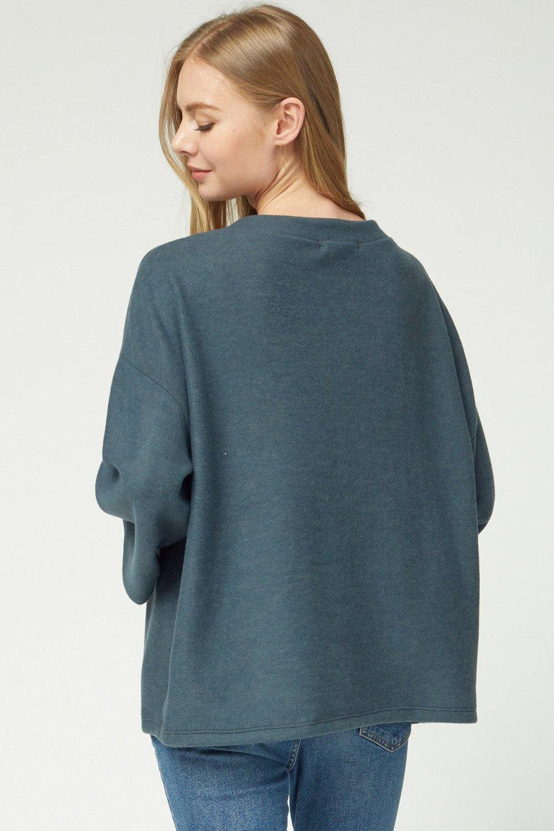 LEAH SCOOP NECK 3/4 SLEEVE TOP