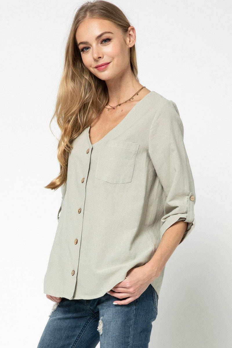 GRACE SCOOP NECK TOP - Patton's