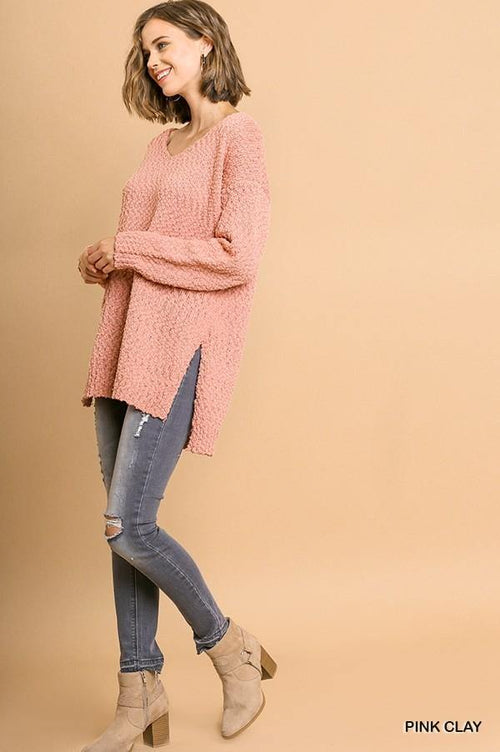 YASMENE V NECK KNIT SWEATER