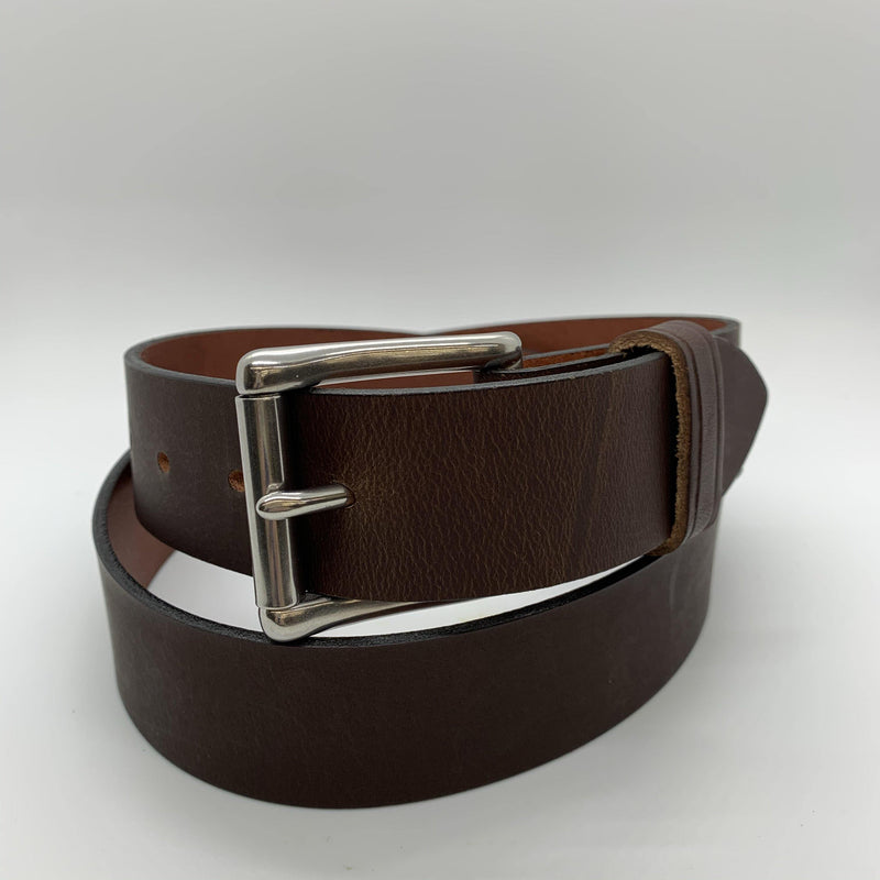 PATTON'S CHOCOLATE BROWN COWHIDE BELT - Patton's