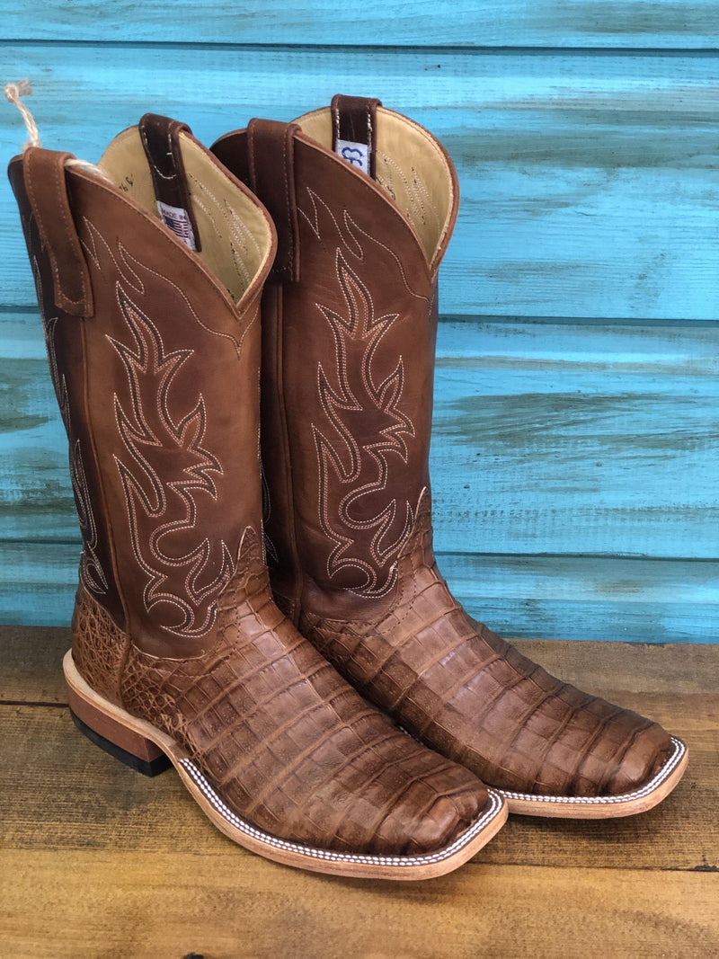 "ANDERSON BEAN EXCLUSIVE ""THE GEORGE"" POST OAK CAIMAN BELLY"