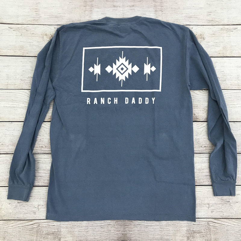 RANCH DADDY FRAMED NAVAJO LS TEE
