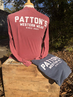 PATTON'S RETRO BLOCK LS GRAPHIC TEE - Patton's