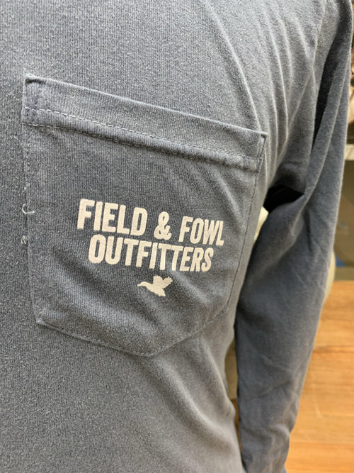 FIELD & FOWL STACKED DUCKS LS POCKET TEE - Patton's