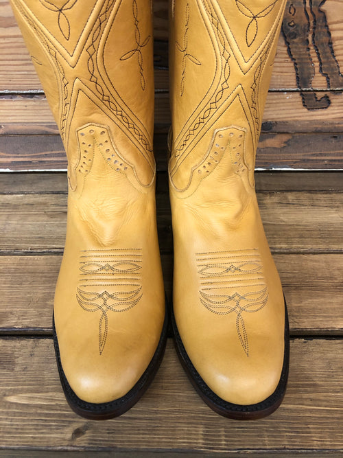 PATTON'S EXCLUSIVE RIOS OF MERCEDES TAN ANILINE BOOTS