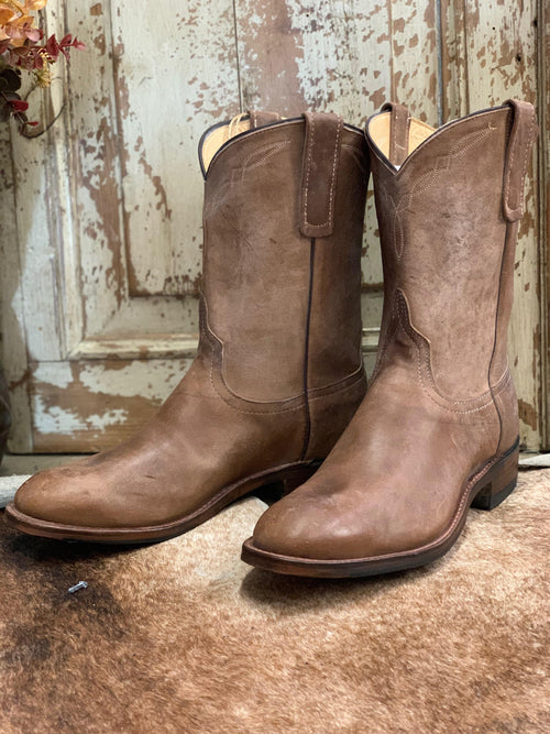 "PATTON'S ANDERSON BEAN EXCLUSIVE ""THE DAVID"" TUMBLED BROWN MUSTANG ROPERS - Patton's"