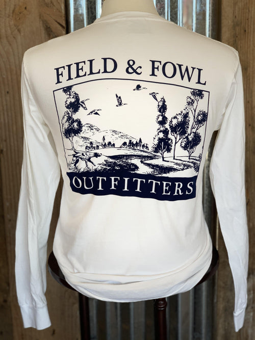 FIELD & FOWL SCENIC LS POCKET TEE - Patton's