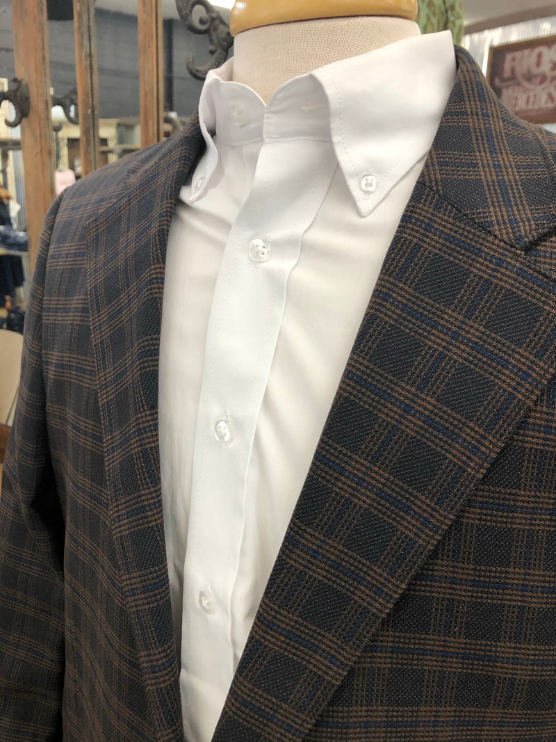 RED SKY NAVY PLAID SPORTS COAT