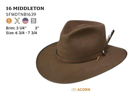 STETSON 5X MIDDLETON - Patton's