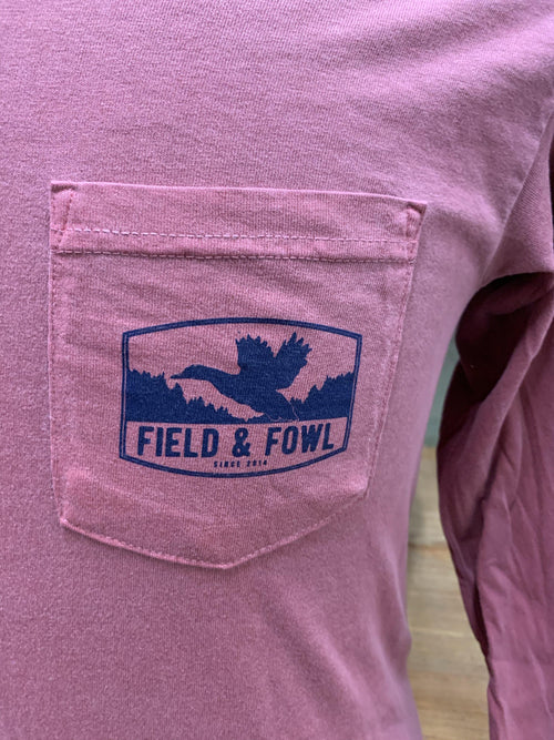 FIELD & FOWL ARCHED FRAME DUCK LS POCKET TEE - Patton's