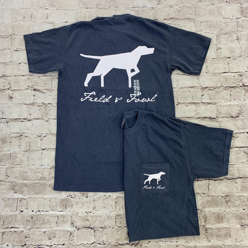 FIELD & FOWL GEO DOG SS POCKET TEE - Patton's