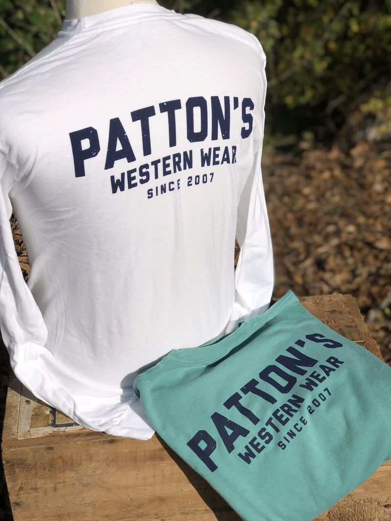 PATTON'S RETRO BLOCK LS GRAPHIC TEE