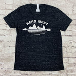 RODEO TRIBE HEAD WEST V NECK GRAPHIC TEE