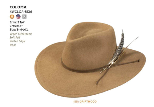 STETSON SEEKER COLLECTION COLOMA - Patton's