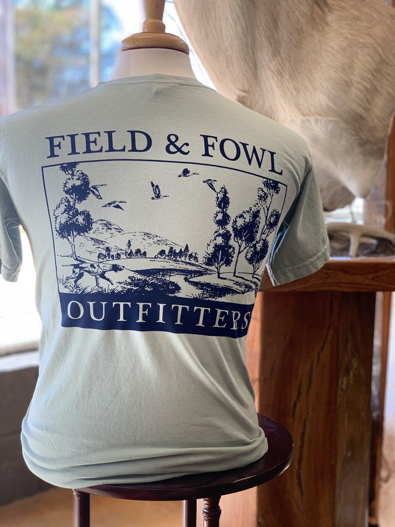 FIELD & FOWL SCENIC SS POCKET TEE