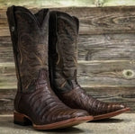 TANNER MARK NICOTINE MAD DOG CAIMAN BELLY PRINT SQ TOE BOOTS