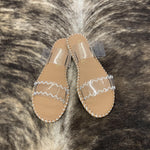 LIVY JANE CLEAR SANDAL-TAN/WHITE - Patton's