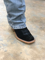 "PATTON'S ANDERSON BEAN EXCLUSIVE ""THE PATRICK"" BLACK ROUGHOUT ANILINE"