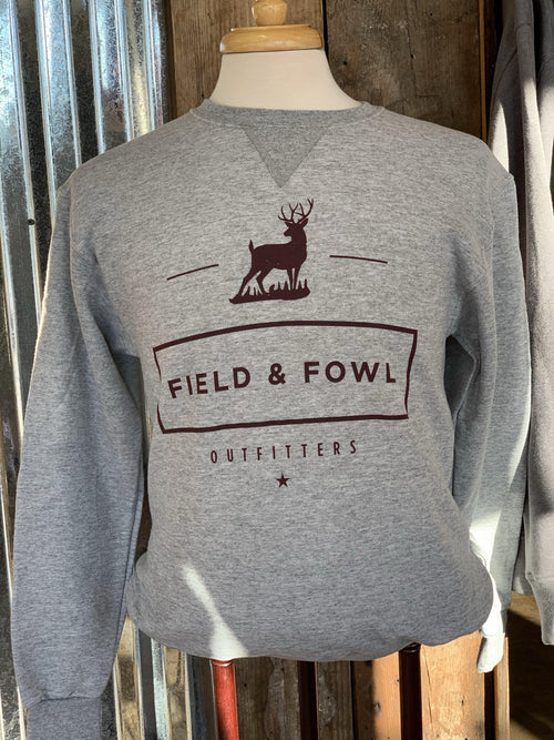 FIELD & FOWL BUCK RECTANGLE GRAPHIC SWEATSHIRT - Patton's