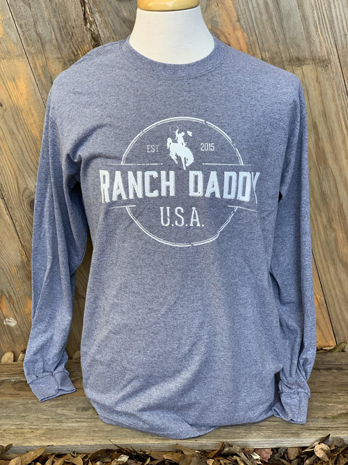 RANCH DADDY ARCHED SEAL LS GRAPHIC TEE - Patton's