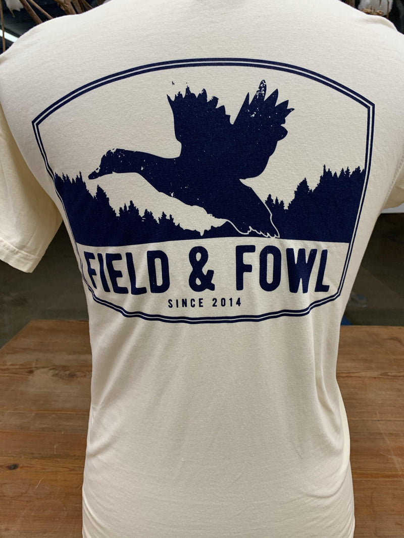 FIELD & FOWL ARCHED FRAME DUCK SS POCKET TEE