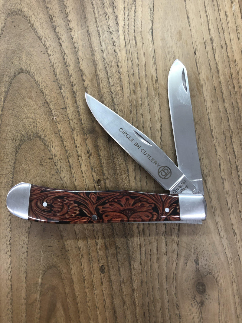 FLORAL TOOLED TRAPPER - Patton's