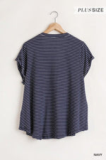 HAYDEN PLUS FLOWY V NECK TOP - Patton's