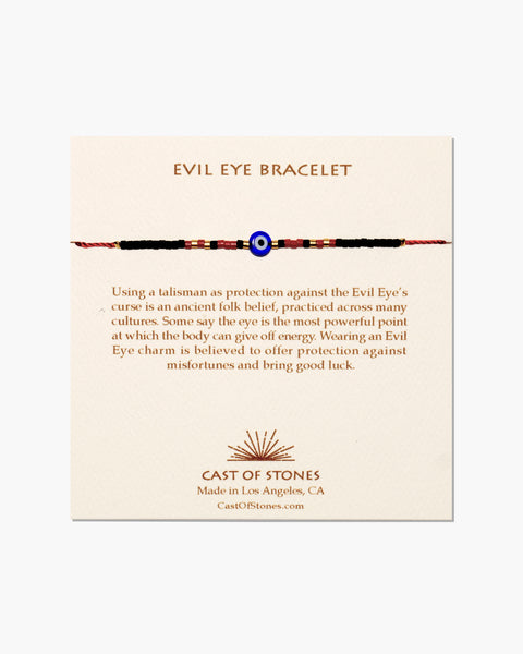 EVIL EYE BRACELET - COBALT W/ RED