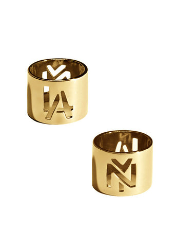 LA NY Gold Cigar Ring