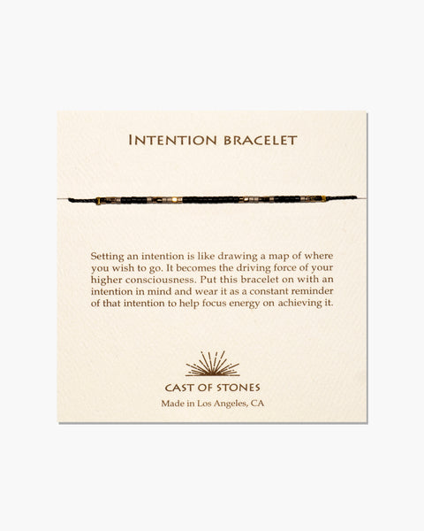 INTENTION BRACELET - Black & Grey