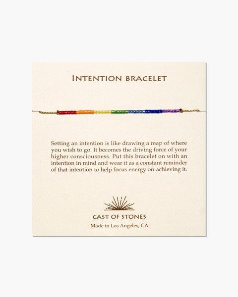 INTENTION BRACELET - CHAKRA RAINBOW