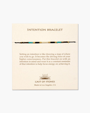 INTENTION BRACELET - MICRO BEADS - INDIAN SUMMER