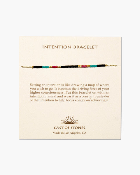 INTENTION BRACELET - MICRO BEADS - MULTI COLOR