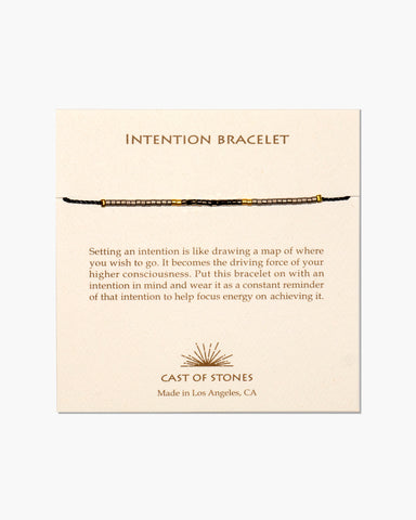 INTENTION BRACELET - MICRO BEADS - NEUTRAL & GOLD